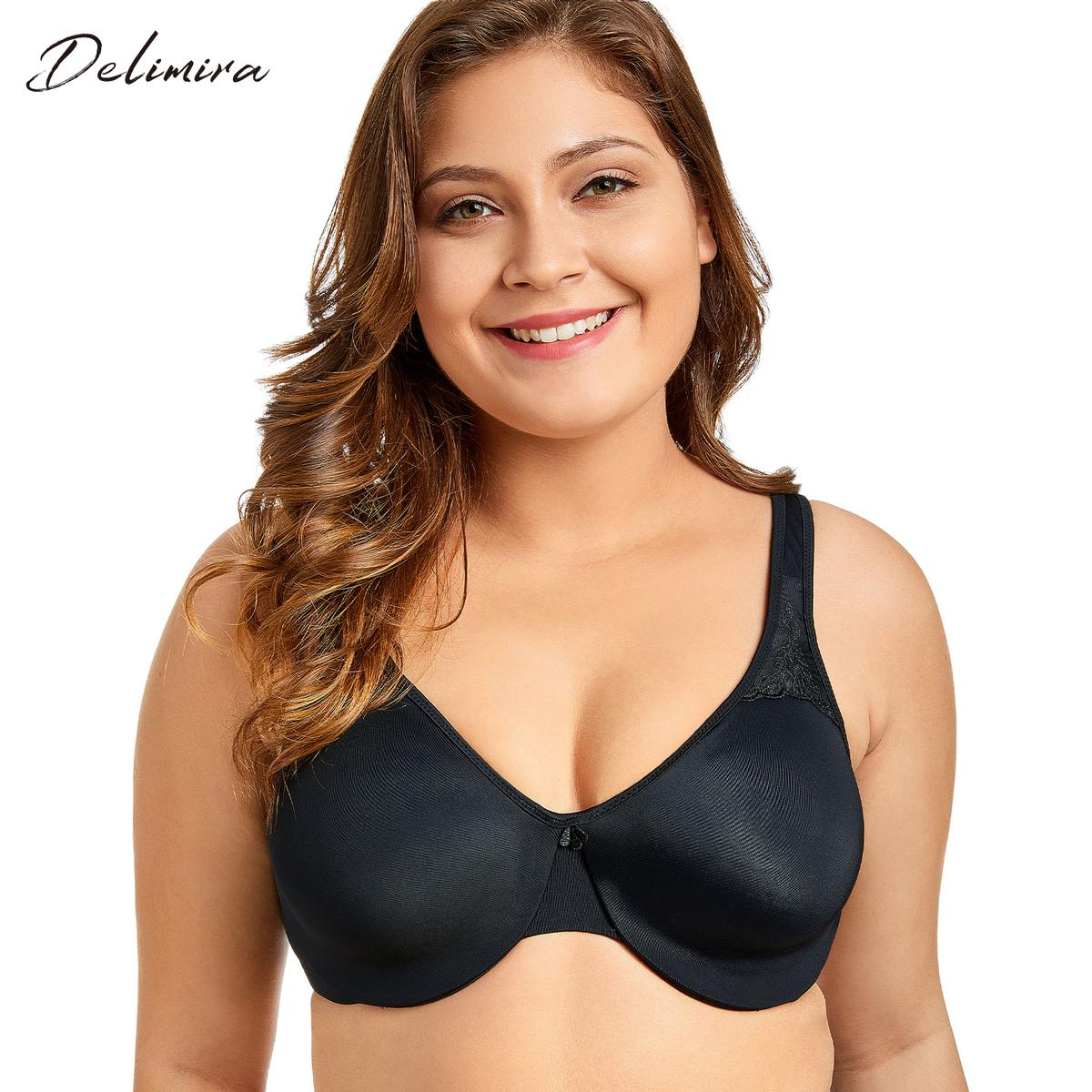 1caaa59324 Delimira Women S Smooth Full Figure Underwire Seamless Minimizer  Comfortable Bra C18110301 Canada 2019 From Lizhang03