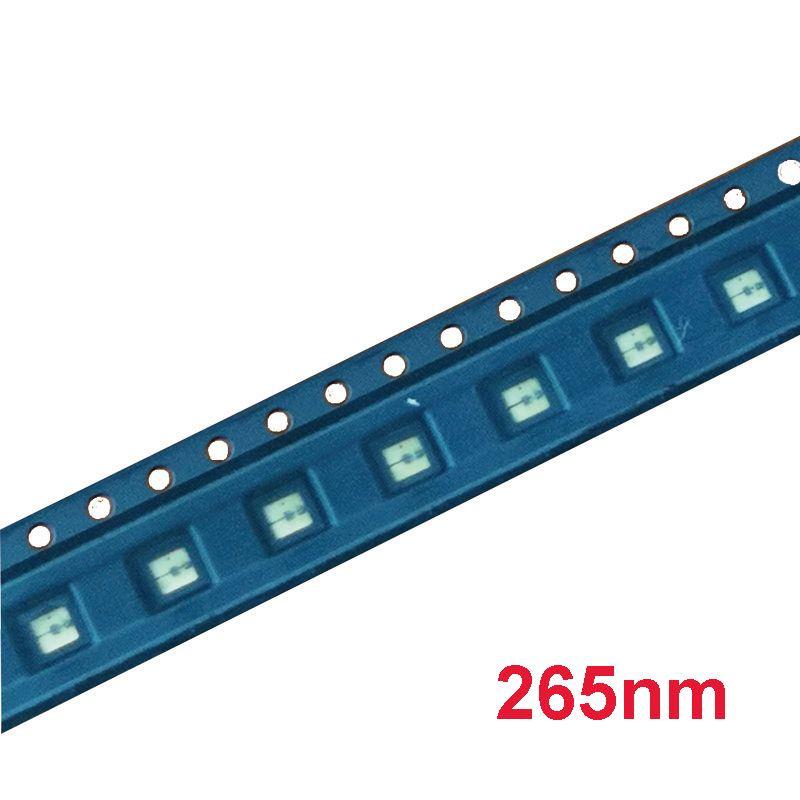 UV LED Diode 265nm UVC LED SMD 3535 260nm 270nm Chip Ultra Violet light  beads UV diode deep for light