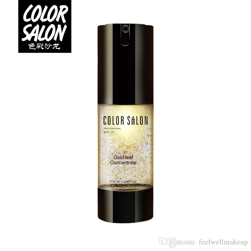 Color Salon Gold Ultra Moisturizing Face Essential Oil Makeup Foundation Base Primer Anti-aging Make Up Brand Cosmetic 30ml