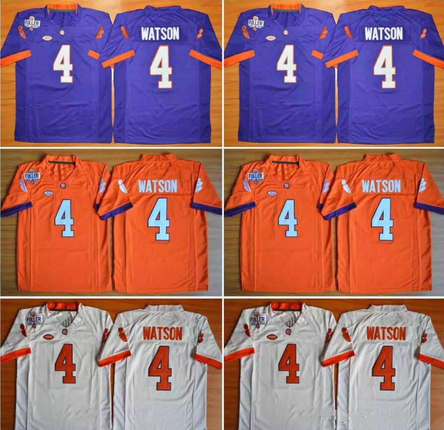2619c11599e 2019 Kids Clemson Tigers 4 DeShaun Watson Orange White Purple Color Youth College  Football Stitched Jerseys Embroidery Logos Free Drop Shipping From ...