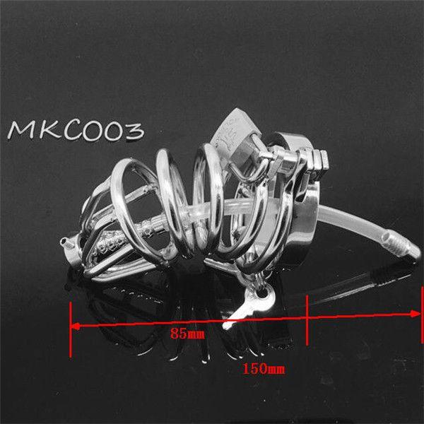 2018 MKC003-10 metal paslanmaz çelik yüksek kalite Erkek bekaret kemeri cb erkek iffet cihazı horoz kafes penis kafesi