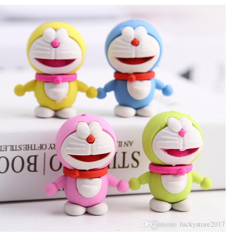 School Suppliers Doraemon Eraser Pencil Stationery Set For Children Kids Students Promotional Gifts
