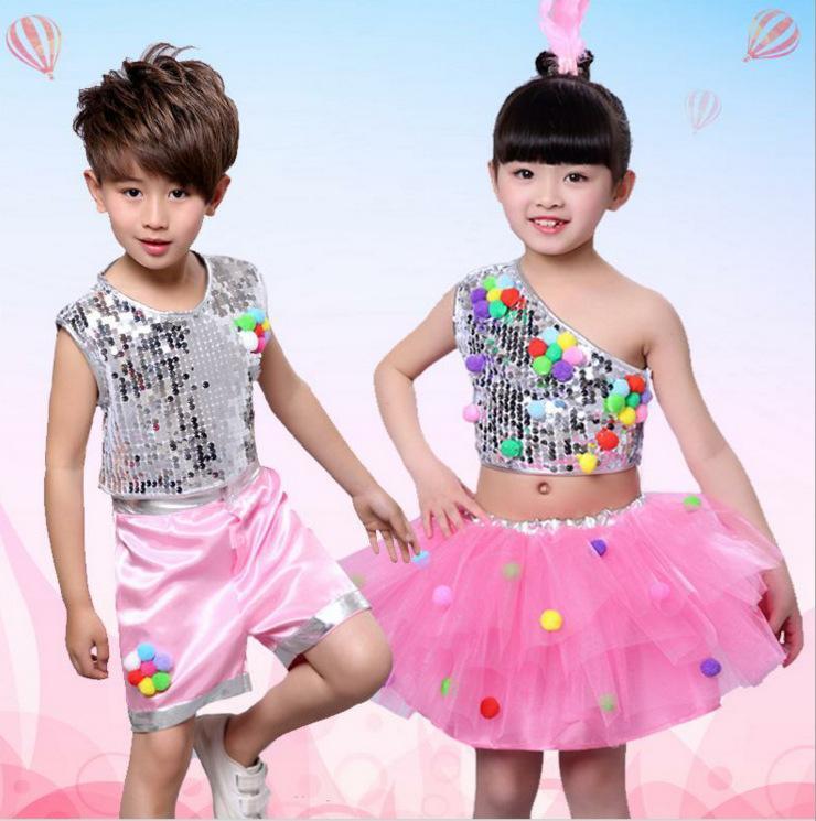 68f2699c38e Compre Nuevos Niños Y Niñas Lentejuelas Jazz Ropa De Baile Falda Bola  Colorida Para Niños Rendimiento Ropa Ropa De Baile Vestido De Princesa A  $23.51 Del ...