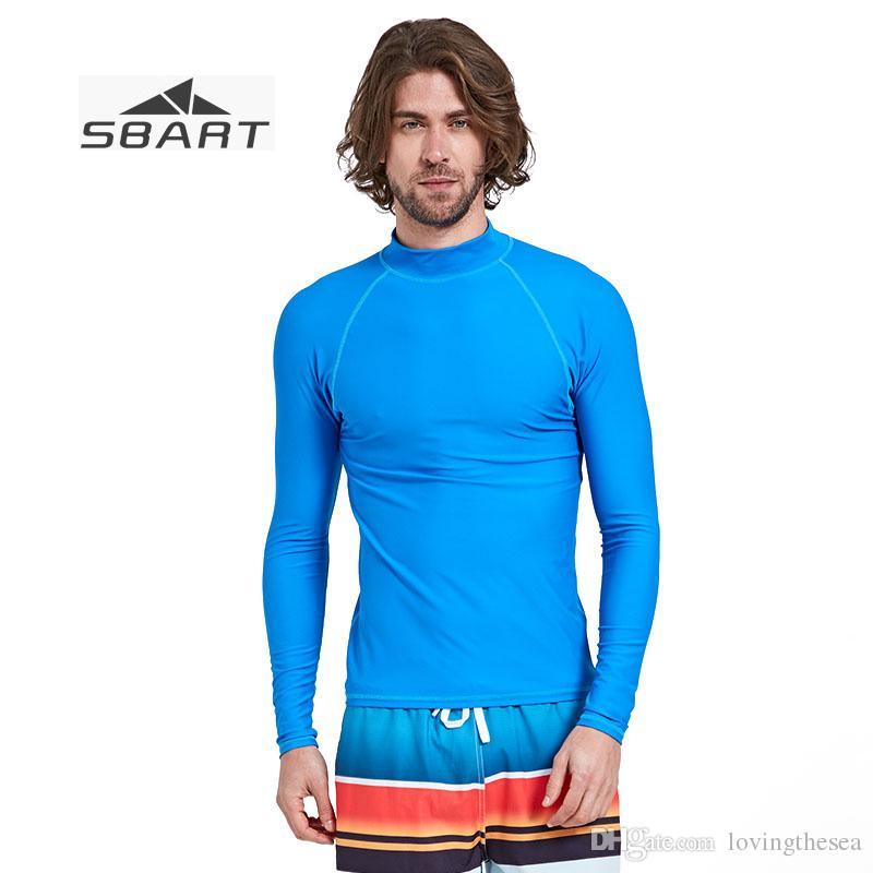 cce7d7d89f 2019 SBART Long Sleeve Men Swimwear UV Shirt For Man Lycra Surfing Shirts  Plus Size Rash Guard Swimming Rashguard Swim Top From Lovingthesea, ...