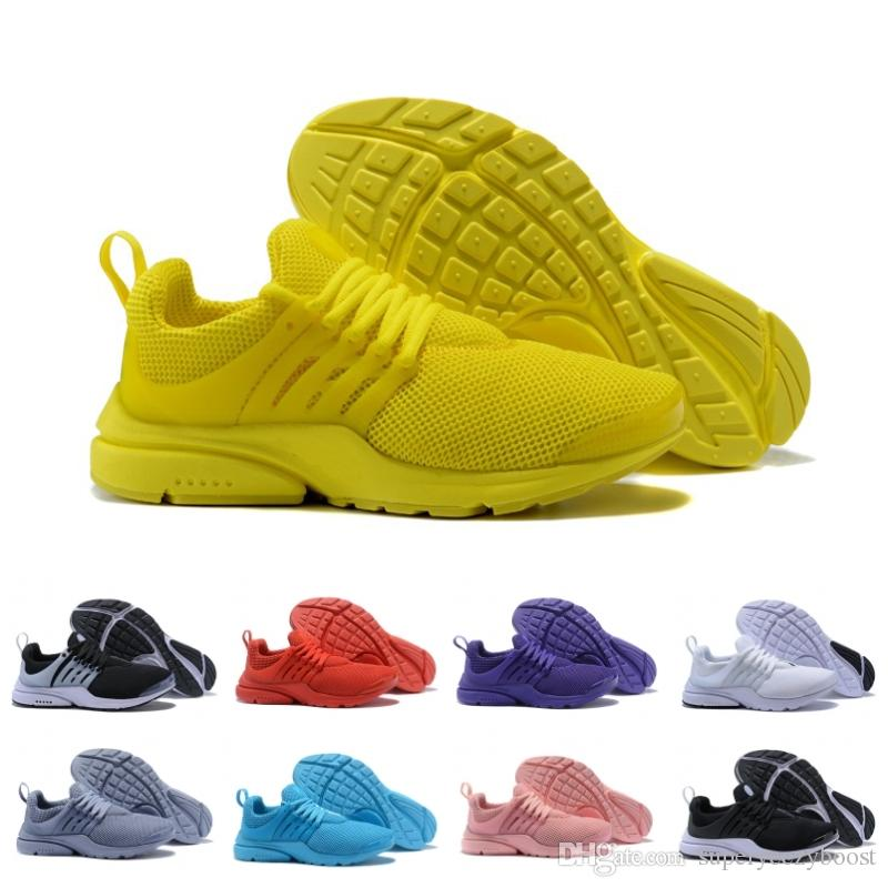 timeless design 001ed d6c2e 2019 Prestos 5 V Running Shoes For Men Women Yellow Blue Grey Purple Pink  Presto Ultra BR QS designer Sneakers US 5.5-12