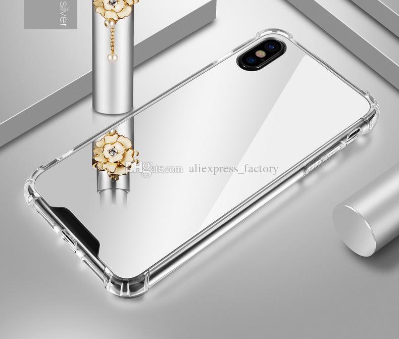 الفاخرة مرآة الهواء وسادة صدمات تعكس جرلي لطيف لينة tpu الوفير + الاكريليك عودة يستعصي حالة تغطية ل iphone xs ماكس xr x 8 زائد 7 6 6 ثانية