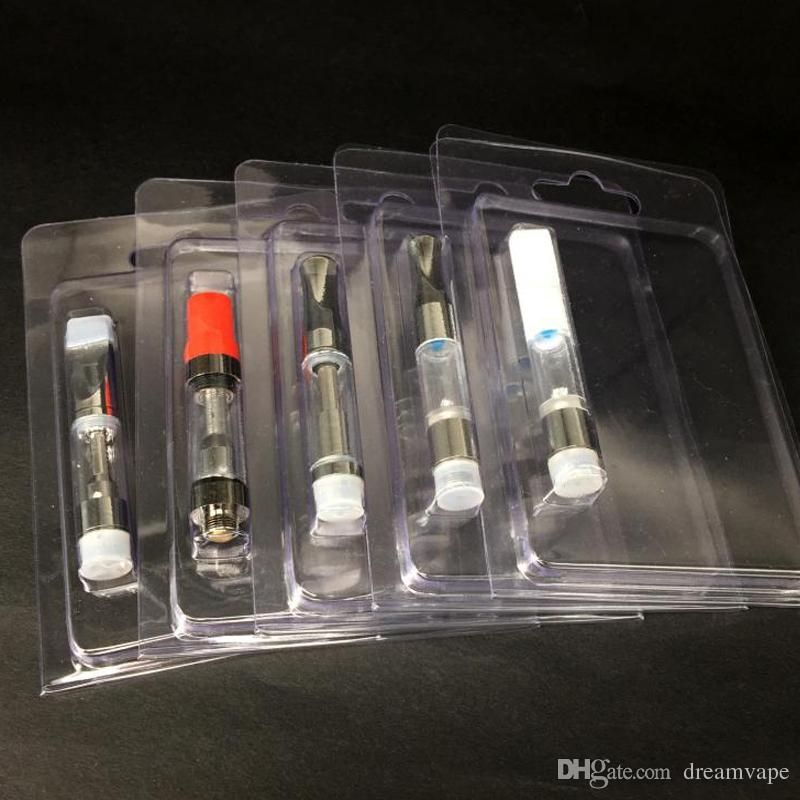 Imballaggio al dettaglio Imbottitura in plastica Clamshell Clam Shell Imballo cartucce di olio Vape 1,0 ml 92A3 G2 th205 Vapor Packaging 510 Imballaggio del carrello