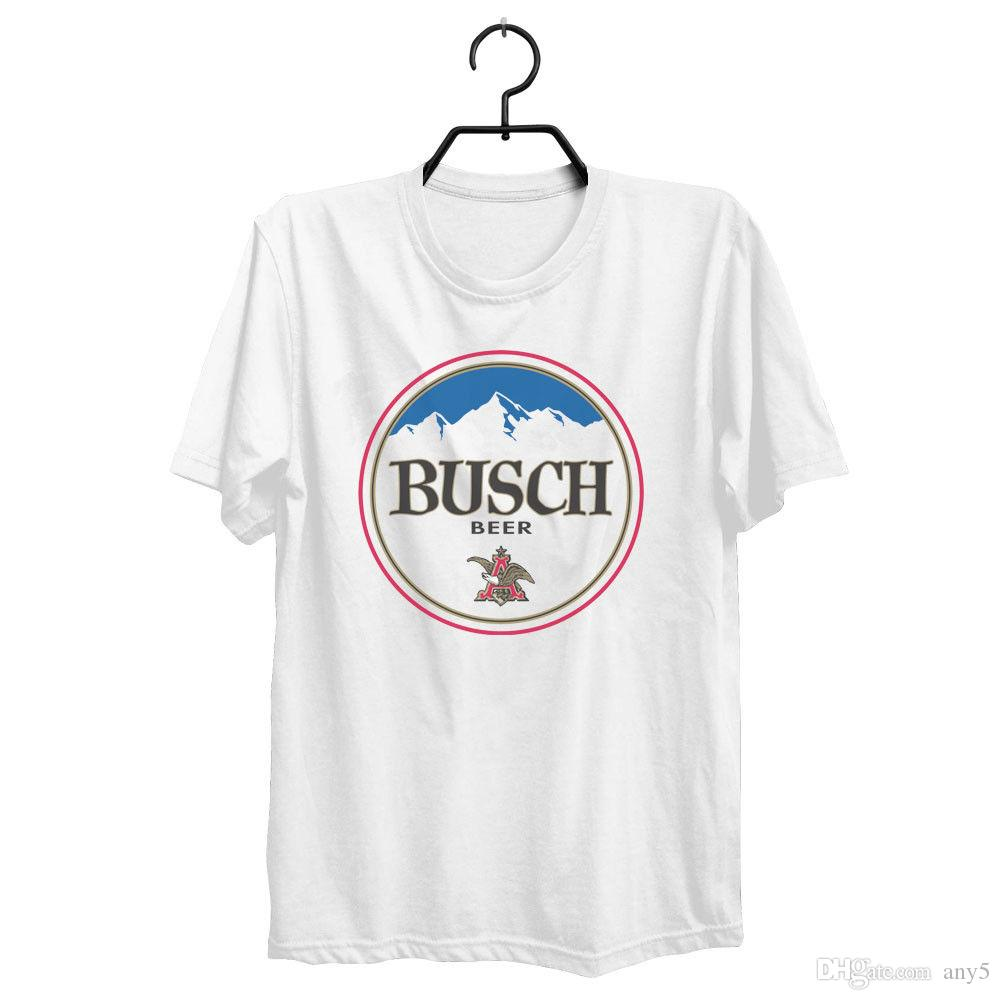 ee4eb71a Busch Beer T Shirt Custom Designed Color Round Worn Label Pattern Hilarious  Shirts Funky T Shirts Online From Any5, $13.19| DHgate.Com