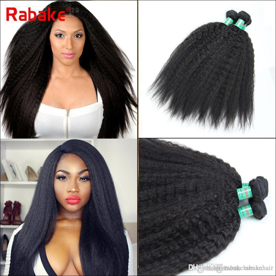 Raw Indian Kinky Straight Virgin Human Hair Weave Bundles Malaysian  Peruvian Brazilian Coase Yaki Human Hair Wavy Extensions For Black Women  Best Quality ... 5a3d5d191f