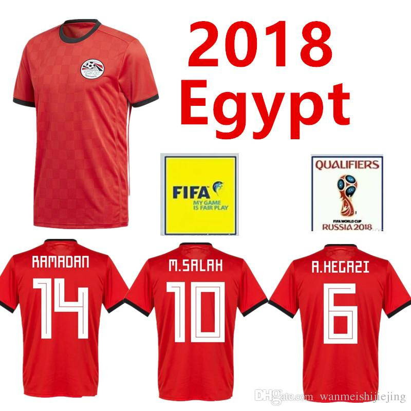 83bf1f9eb 2019 Egypt 2018 World Cup Jerseys Home M. SALAH KAHRABA Ramadan ElNenny Top  Thai Quality Soccer Jerseys 2018 Egypt Football Shirts From  Wanmeishijiejing