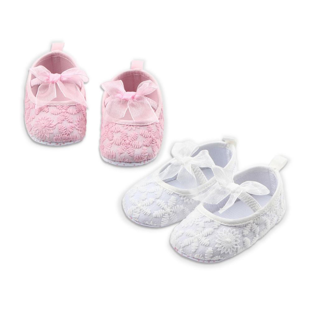 Compre Borboleta Nó Bebê Menina Fundo Macio Sapatos Recém Nascidos