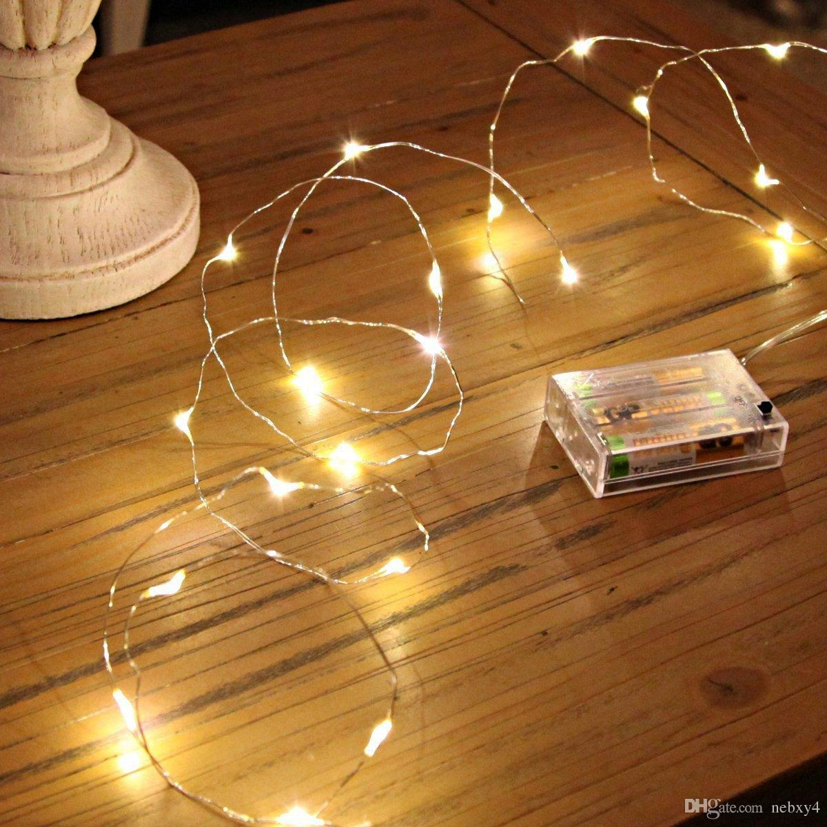 Outdoor Fairy Lights Battery Operated Led string lights mini battery powered copper wire starry fairy led string lights mini battery powered copper wire starry fairy lights battery operated lights for bedroom christmas5m16ft warm white battery powered workwithnaturefo