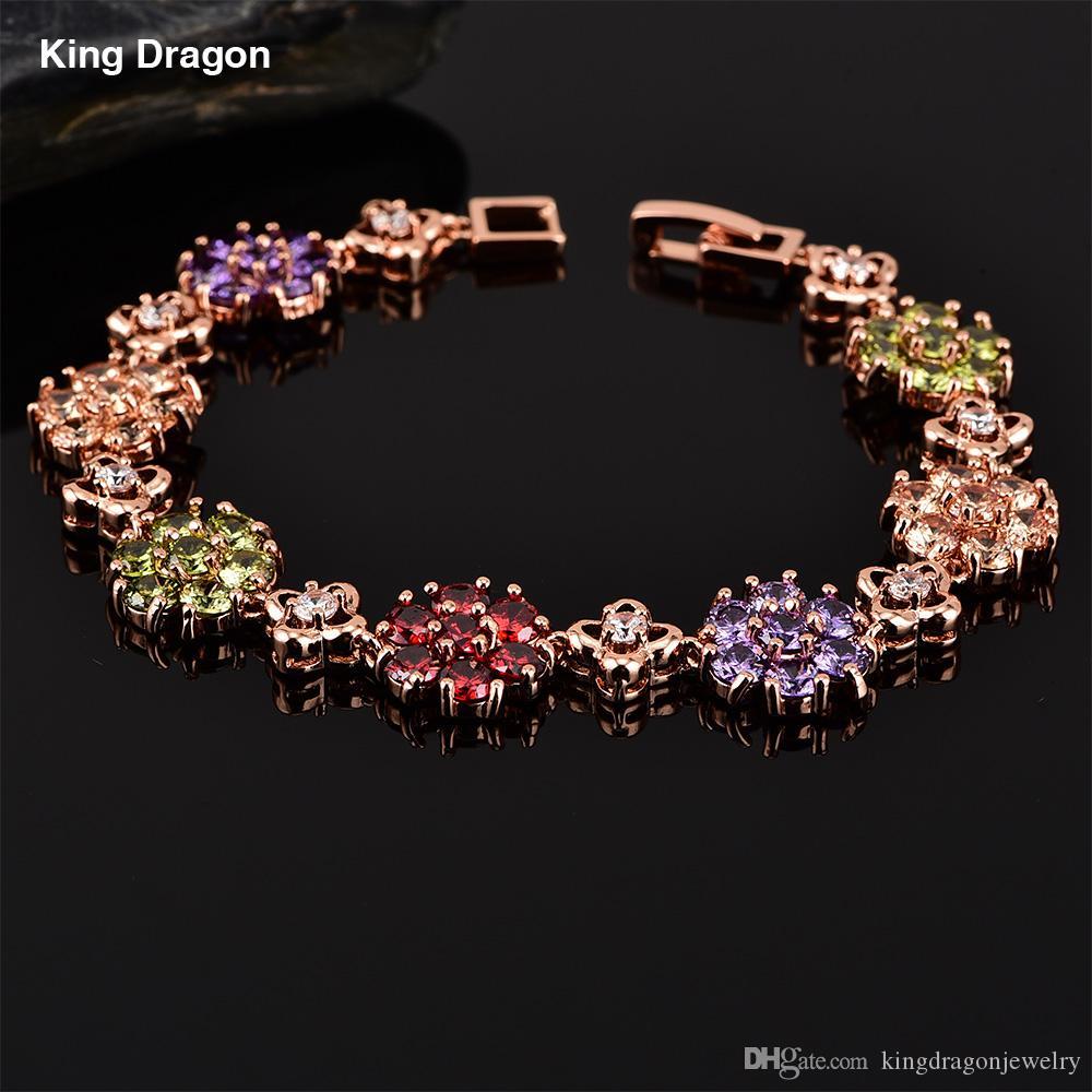 88ce27a12672 Новая мода круглый AAA цирконий браслет для годовщины свадьбы невесты  ювелирные ...