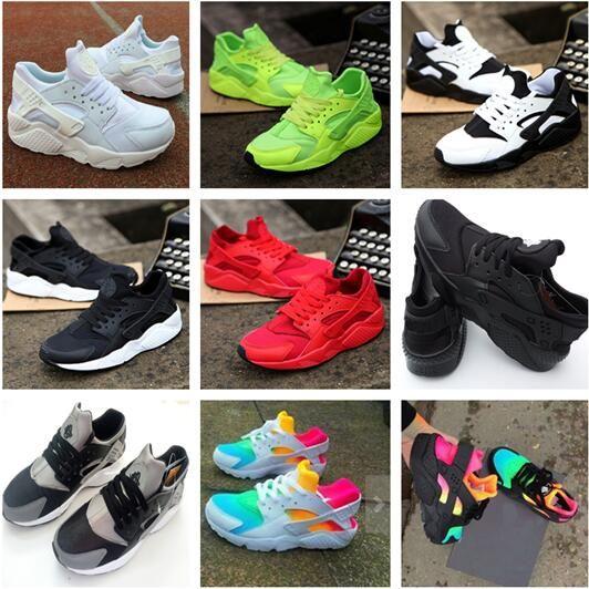 0f2711b57b62 New Air Huarache Rainbow Sky Blue Running Shoes Big Kids Boys Girls Men  Women Huaraches Ultra Shoes Multicolor Black Huarache White Sneakers Kids  Brown ...