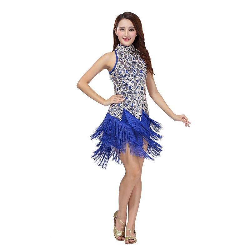 397ded0d8 2019 Sexy Women Latin Dance Dress Bling Sequins Tassel Decorate Ballroom  Dancewear Dresses From Ferdinand07, $30.75 | DHgate.Com