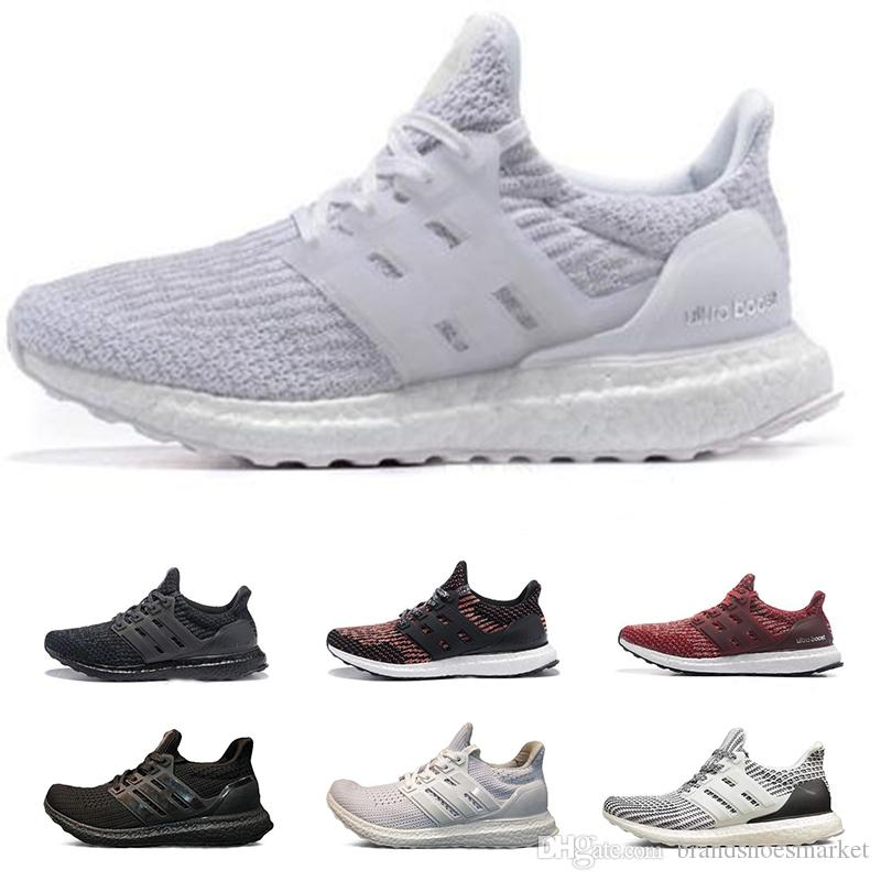 new style fe9e9 e3f39 Ultra Boost 3.0 4.0 Running Shoes Mens Womens BE TURE Triple Black And  White Primeknit Oreo Ultraboost Sport Sneakers 36 46 Good Running Shoes  Skechers ...