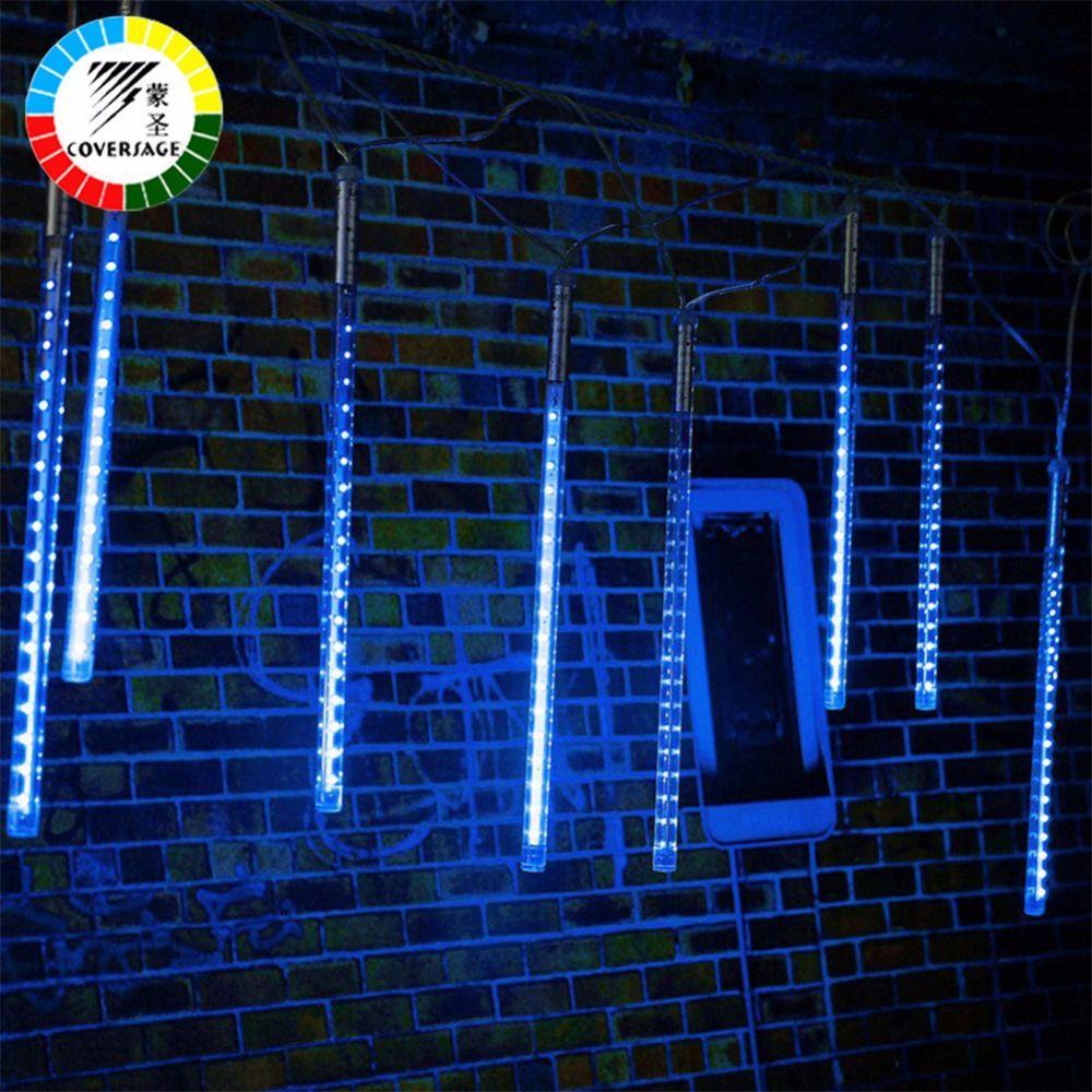 Coversage Meteor Douche Pluie Tube 30 CM 50 CM Arbre De Noël Décoratif Luces Rideau Lumières extérieures Xmas Led String Light