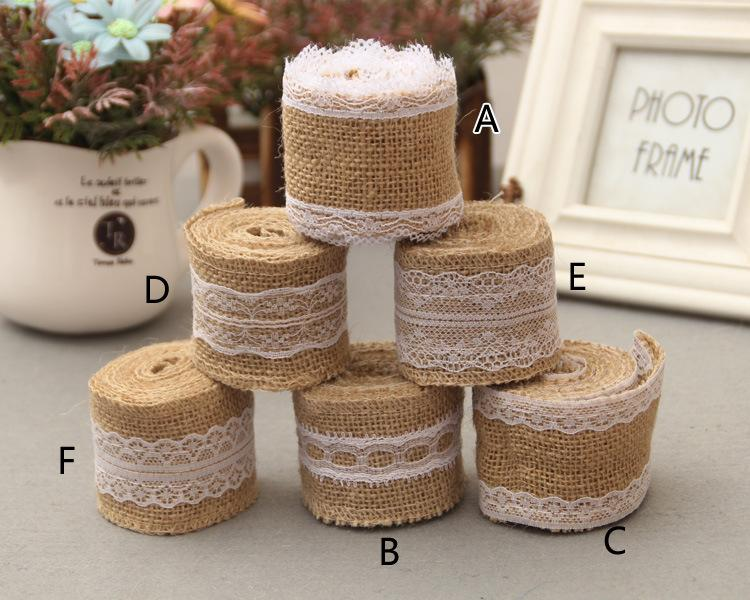 burlap lace diy handmade christmas ribbon lace rustic vintage decoration supplies wedding crafts lace linen many styles 2 meter 5cm ribbons idea wedding - Burlap Christmas Ribbon