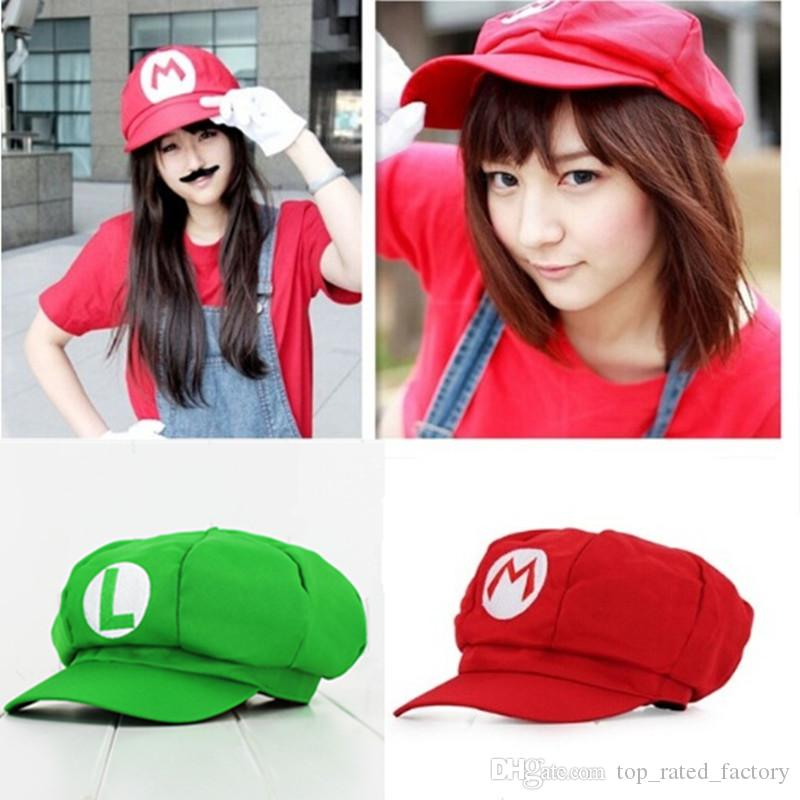 Halloween Adult Hat Cosplay Super Mario Bros Anime Cosplay Red Cap Tag  Super Cotton Hat Super Mario Hats Luigi Hat Online with  5.61 Piece on ... ff69fff4712d