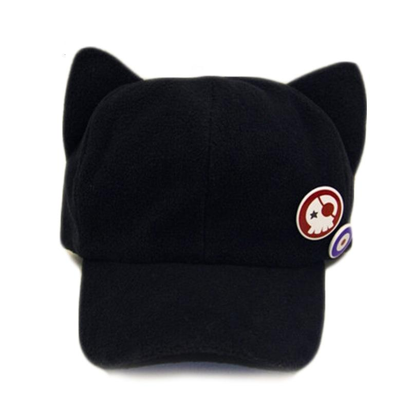 62f4bfb5609 2019 Women Black Newsboy Cap Autumn Winter Ladies Cute Solid Flat Hat  Female Cat Ear Caps From Value222