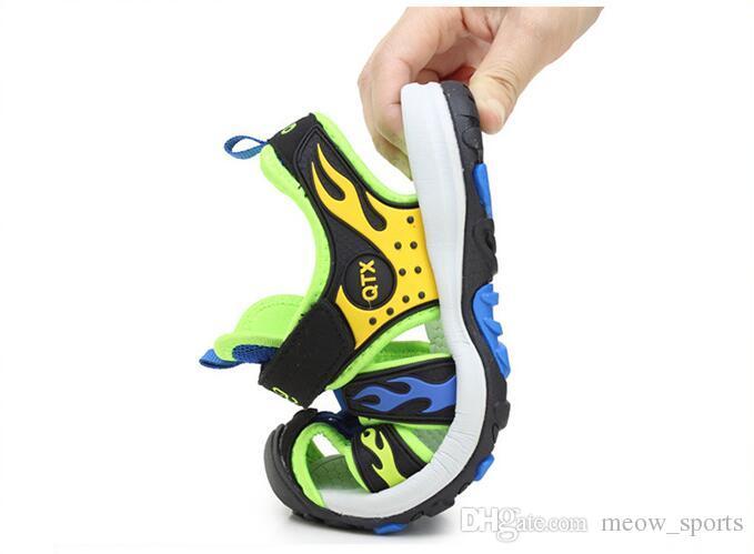 Chaussures de plage d'été pour enfants, chaussures à bout fermé, garçons, sandales, sport orthopédique, chaussons bébé garçon, chaussures de sport