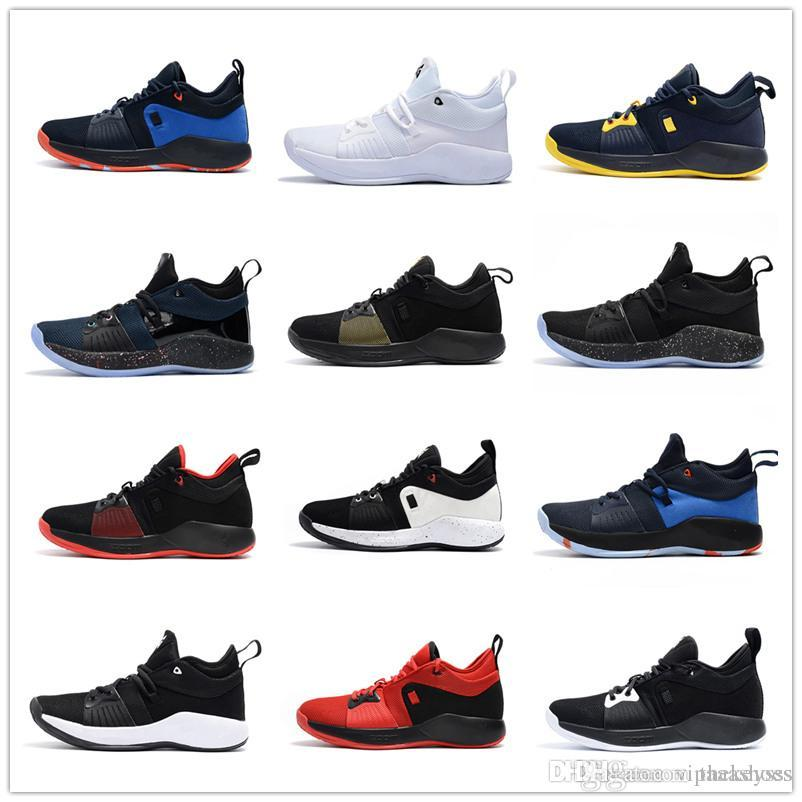 2c361a464c2 2019 2018 High Quality Paul George 2 PG II Basketball Shoes For Cheap Top  PG2 2S Starry Blue Orange All White Black Sports Sneakers Size 40 46 A1  From ...