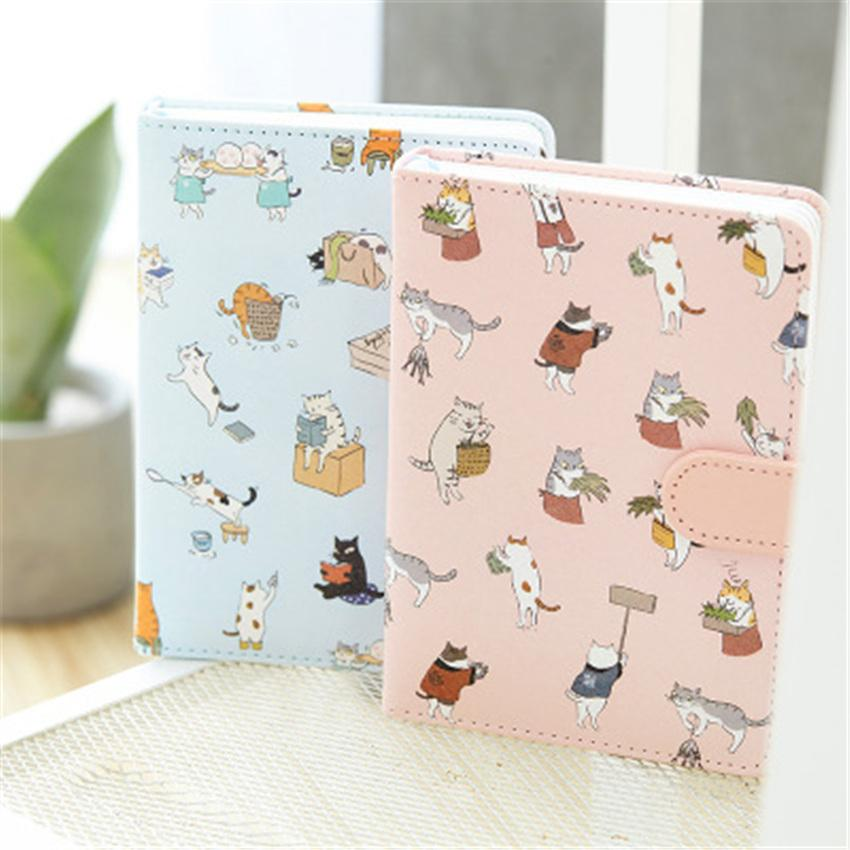 Kawaii cat Inset Hand account set planner notebook Diary sketchbook Notepad agenda Replaceable Stationery Gift Traveler Journal