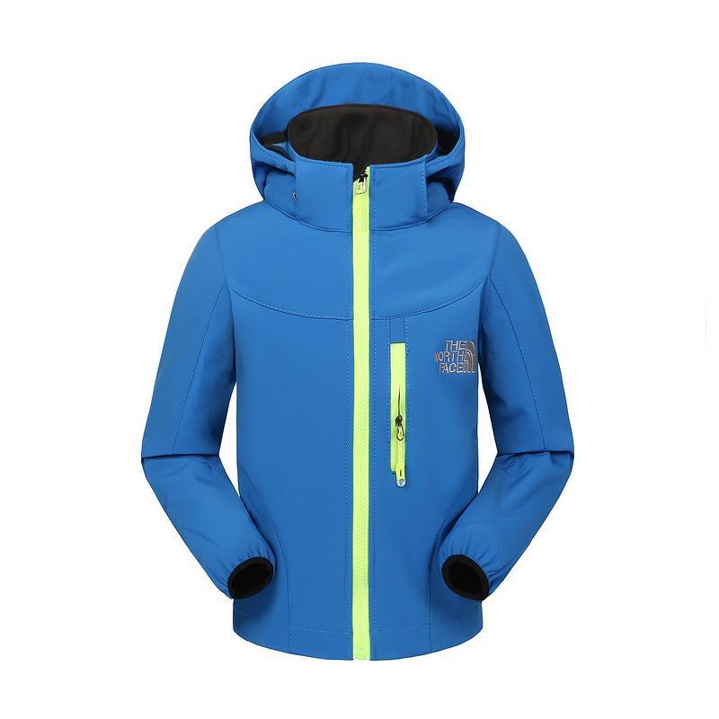 c8348807056d Kids Autumn Winter Jacket The North Boys Girls Fleece Soft Shell Coat Warm  Outdoor Casual Windbreaker Face Hooded Coats Zipper Jackets 2018 Puffer  Jackets ...
