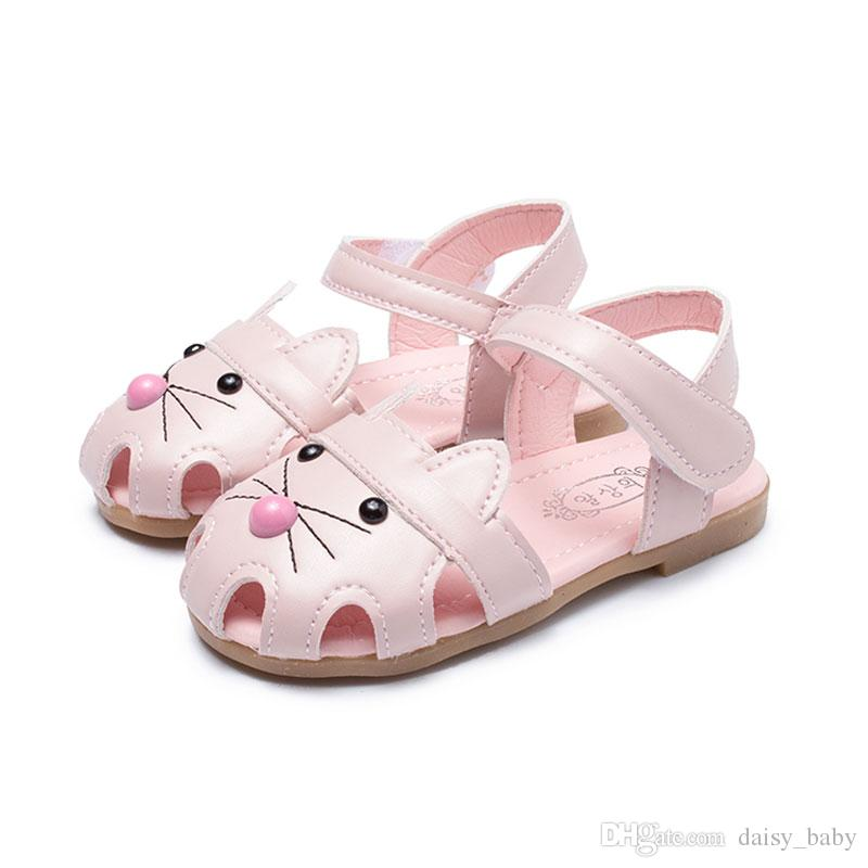 7b7b5655ba Shoe Child Sandals Girls Cartoon Cat Shoes Girl Summer Antiskid And Soft  Bottom Sandal Princess Shoe For Kids  17 Cheap Slippers For Kids Dress Shoes  For ...