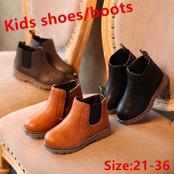 c561134c6433c5 Großhandel Das Ganze Jahr 1 Paar Kinder Schuhe Kleinkind Jungen Mädchen Stiefel  Leder Martin Stiefel Kinder Solide Stiefel Größe 21 36 Von Spatttt