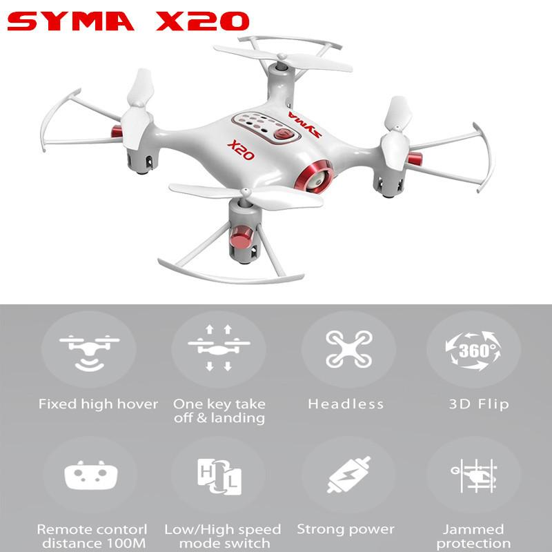 2b6ad1b3261 Syma X20 Mini Nano Drone Rc Quadcopter Helicopter 6 Axis Headless Altitude  Hold Mode RTF Cheap Radio Controlled Cars Cars Remote Control From  Fashion09, ...