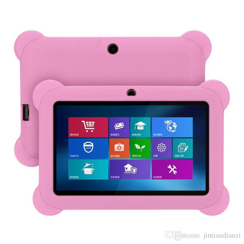 """JT Anti Dust Kids Child Soft Silicone Rubber Gel Case Cover For 7"""" 7 Inch Q88 Q8 A33 A23 Android Tablet pc MID"""