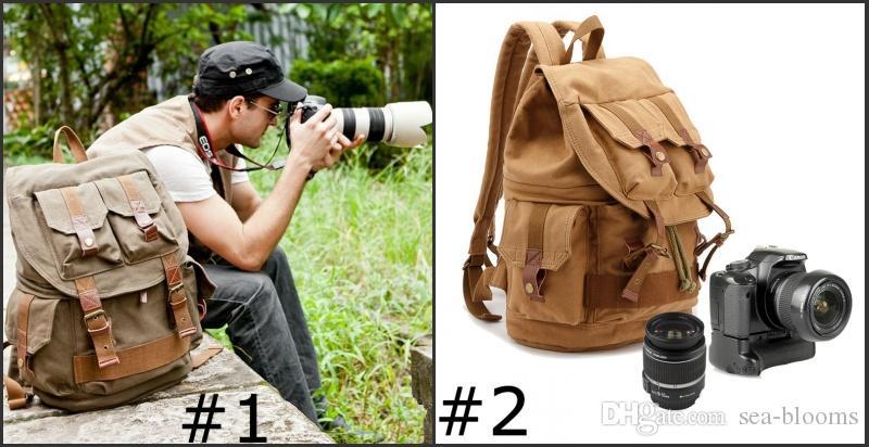 Zaino verde Kaki grande fotocamera fotocamera fotografica foto zaino fotografico impermeabile obiettivo e accessori con copertura pioggia G164S