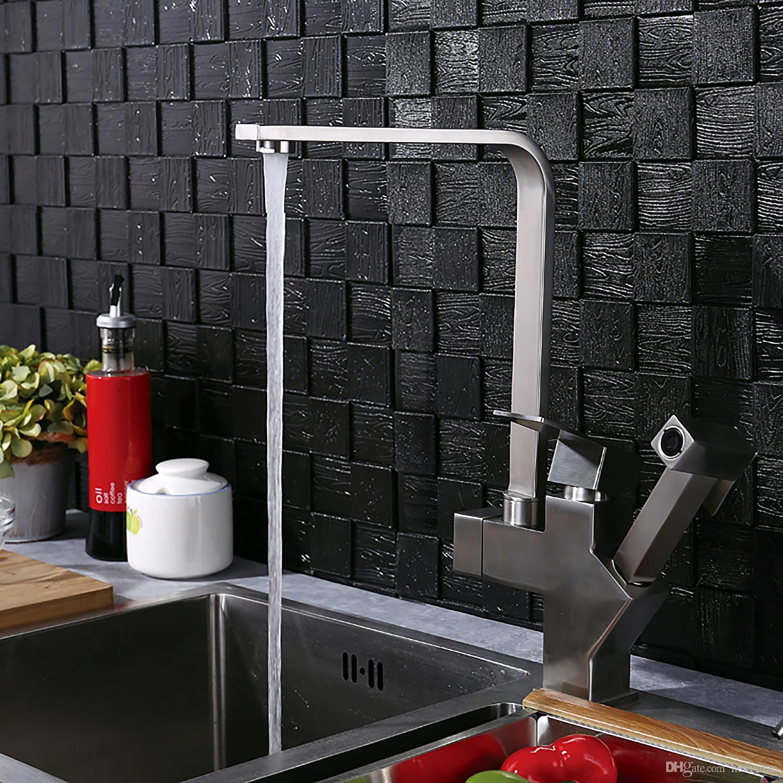 Großhandel 304 Edelstahl Küchenarmatur Multi Funktions Pull Heißen ...
