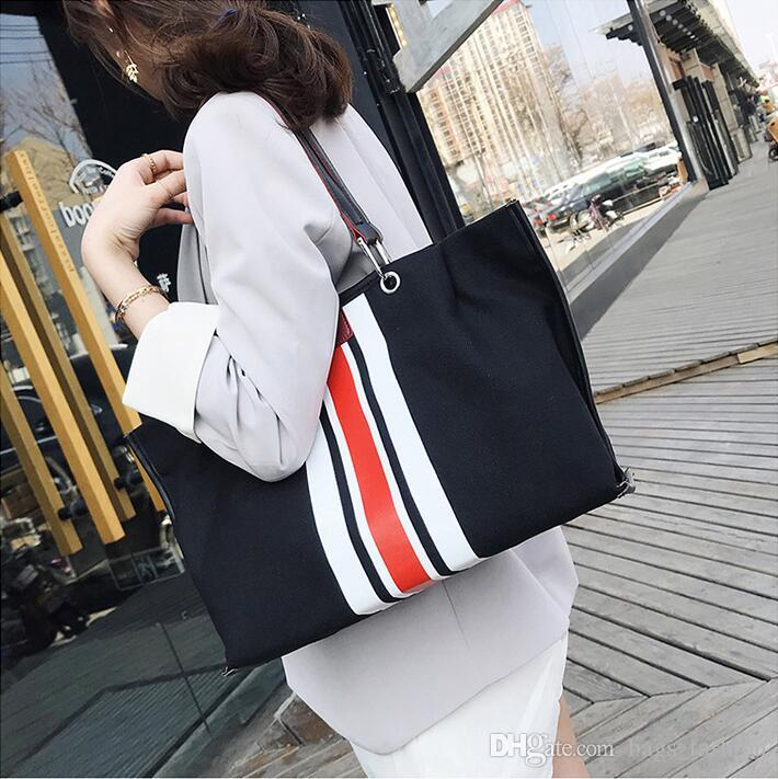 e14b63bd41c1 2019 Casual Women Canvas Shoulder Bag Simplicity Female Handbag Soft Medium  Size Solid Messenger Bag For Teenagers Girls Leather Briefcase Wholesale ...