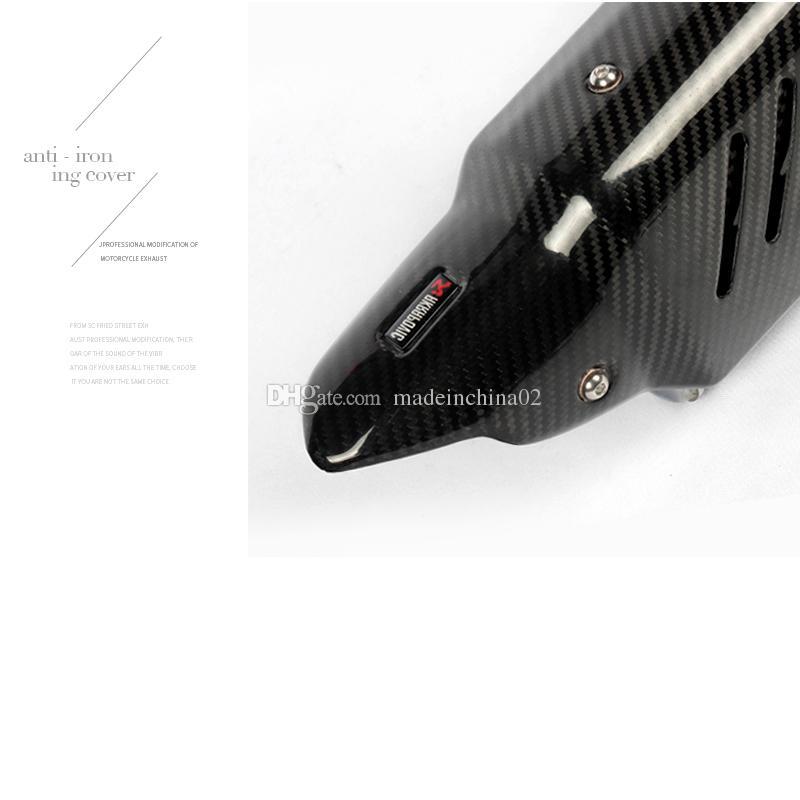38mm 51mm Motosiklet Karbon Fiber Egzoz Borusu Çıkarılabilir DB Katil Sistemi olmadan R6 R1 CBR500 S1000RR Z750