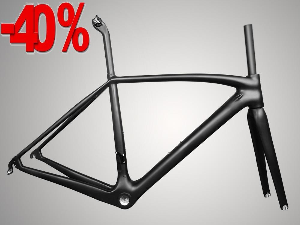2018 New T1000 Carbon Top Light Weight Black Carbon Road Frame ...