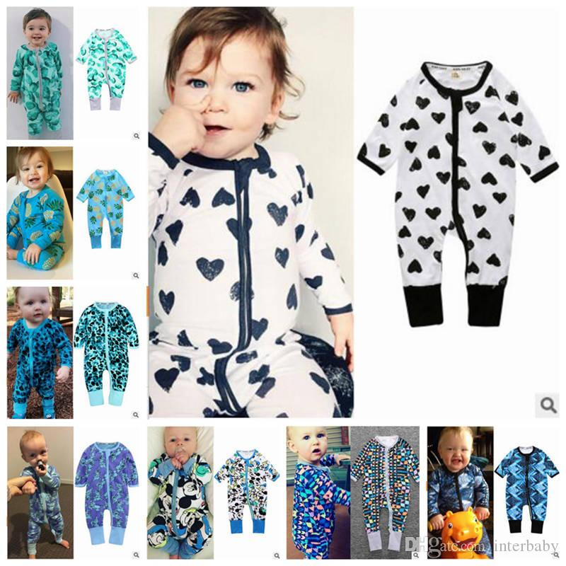 bd21fbf4fce 2019 Baby Rompers Kids Cartoon Animal Print Jumpsuits Winter Long Sleeved  100% Cotton Onesies Infant Outdoors Clothing Designer Clothes YL618 From  Interbaby ...