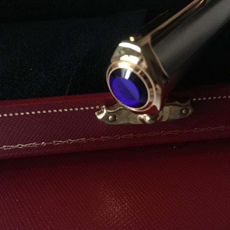 marque de stylo à bille en pierre bleue stylo mode luxe écriture stylo à bille fournisseur et boîte-cadeau opthion