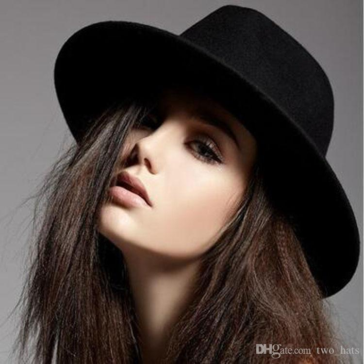 Women S Fedora Sun Hats Wool Topwear Floppy Jazz Hat Casual Hats Classic  Panama Headwear QF Fedora Hats For Men Cowgirl Hats From Two hats 61b0cfe464