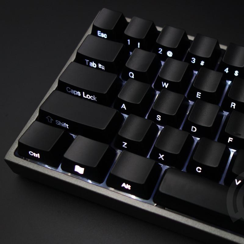 Keycaps Set Front/Side Print Backlit Cherry MX Keycaps With Keycap Puller  For Tenkeyless 87/104 Mechanical Gaming Keyboard Black