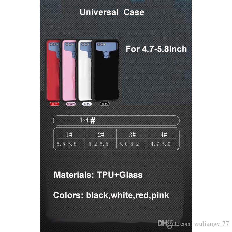 Universal Tempered Glass Pouch Phone Case For Philips V787 V387 V526 V8526 S396 S326 S399 S316 S356T W3509 T3500 TPU Cases for Lenovo