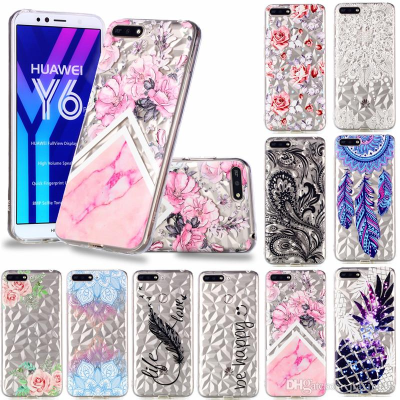 online retailer 1ab65 a0562 Classy Soft TPU Back Covers For Huawei Y6 2018 Case Coque Relief ...