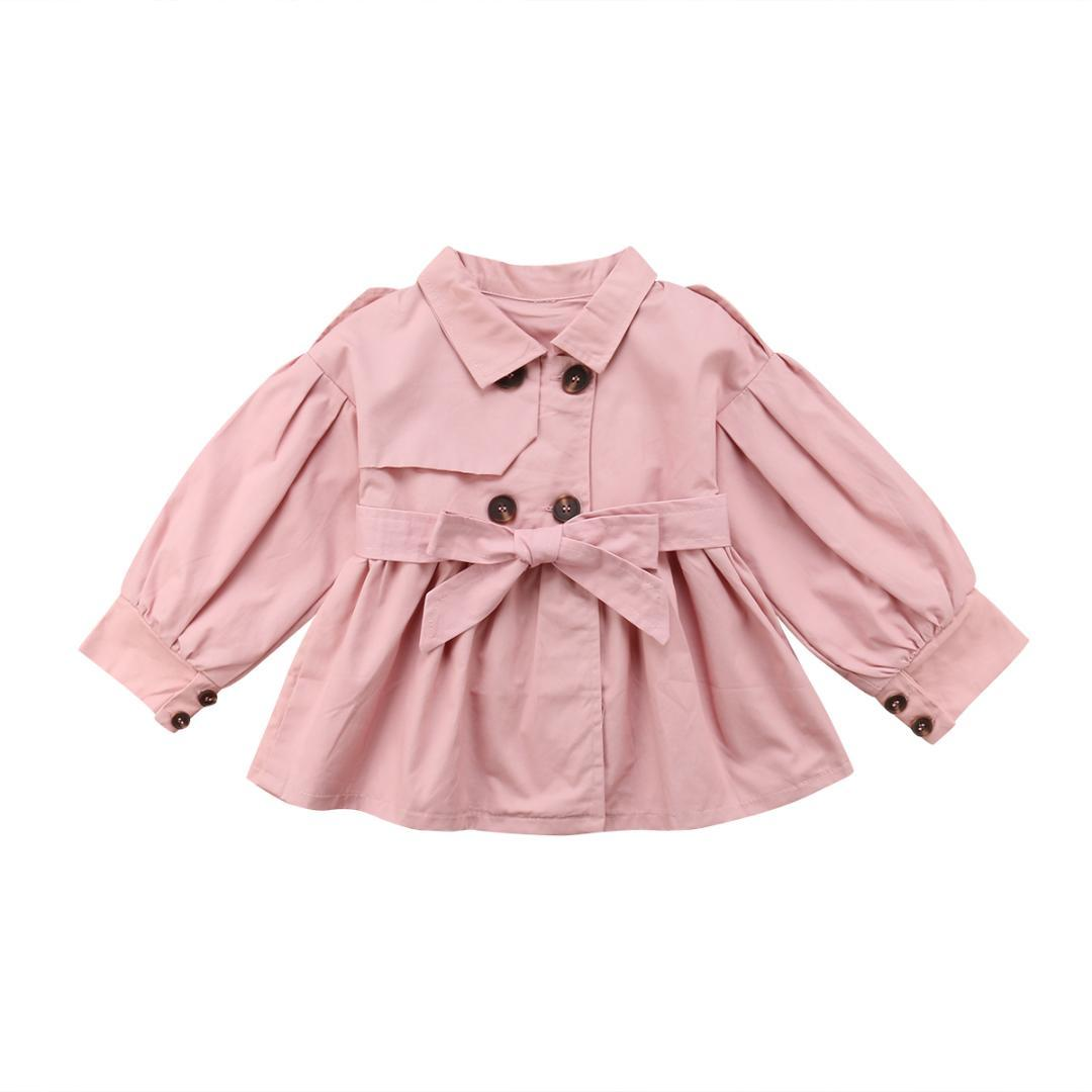 Winter Autumn Toddler Kids Baby Girls Pink Fashion Coat Jacket Dress Outfit Long Sleeve Windbreaker Clothes