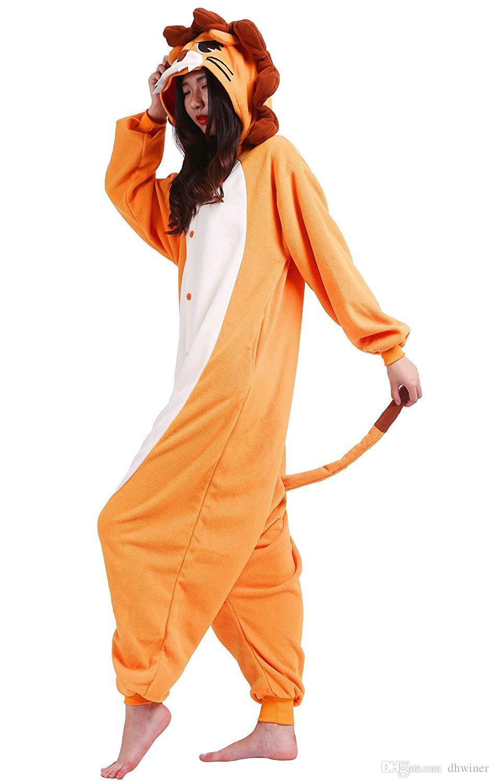 Pyjama Animal Animal Adulte en Peluche Peluche One Piece Lion