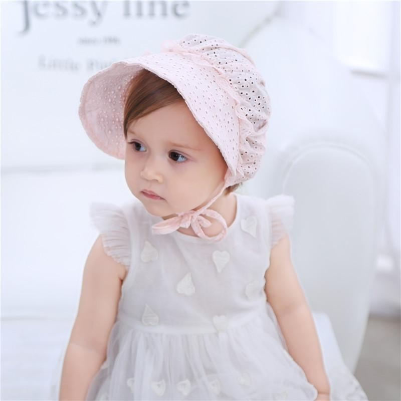 2019 Newborn Girl Hats Summer Pleasantly Cool Lace Baby Cap Baby One Full  Year Of Life Court Hats Pure Cotton Princess Hat From Opps mybaby 253ec41ea39