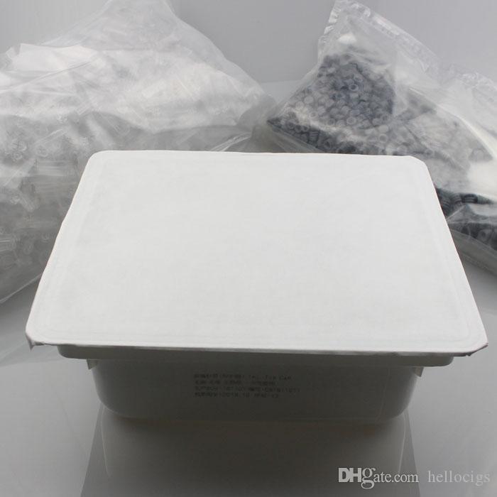 No hay fugas Luer Lock Pyrex Glass jeringa punta inyector cabeza 1ML con marca de medición y embalaje al por menor para el tanque de cartuchos de aceite de Co2 gruesa