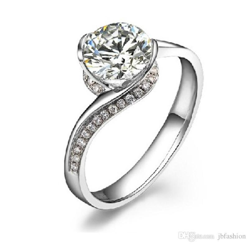 2018 Brief 0.8 Carat Sona Diamond Fancy Ring Engagement Wedding ...