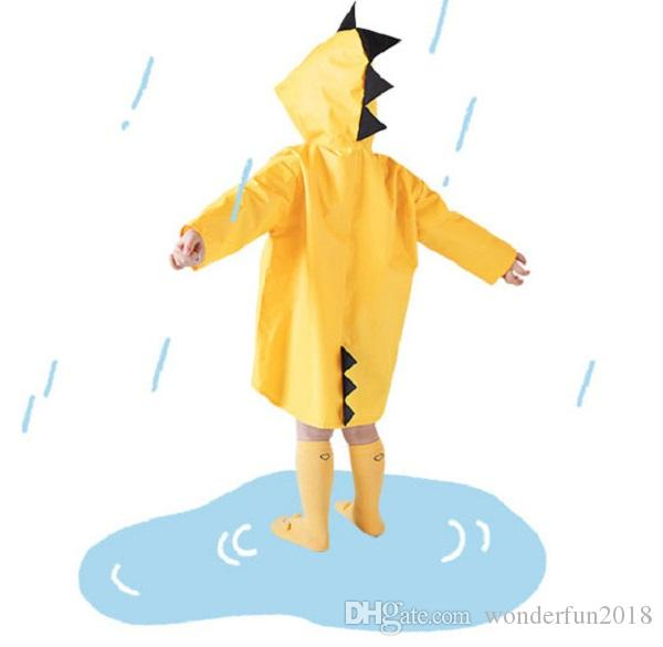 Brand New fashion cute Children Cartoon dinosaur Rain Coat Kids hooded Rainwear Baby Funny Waterproof Raincoat Kids Rain Jacket