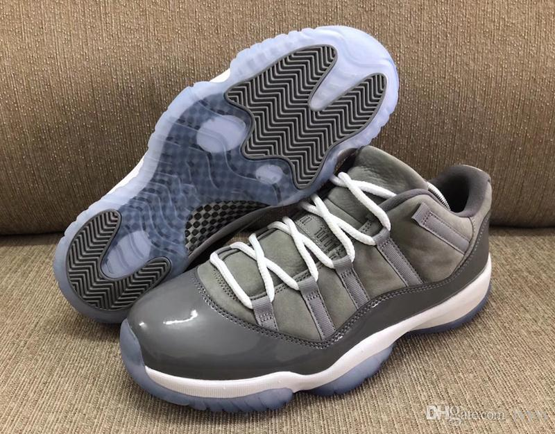 Top 2020Air 11 Low Cool Grey 11S Basketball Shoes Sneakers For Men 2018  Authentic Real Carbon Fiber 528895 003 With Box 40 47.5 Best Basketball  Shoes Womens ... b264d2558